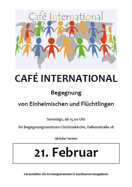 café international am sonntag | bündnis für flüchtlinge, Einladung