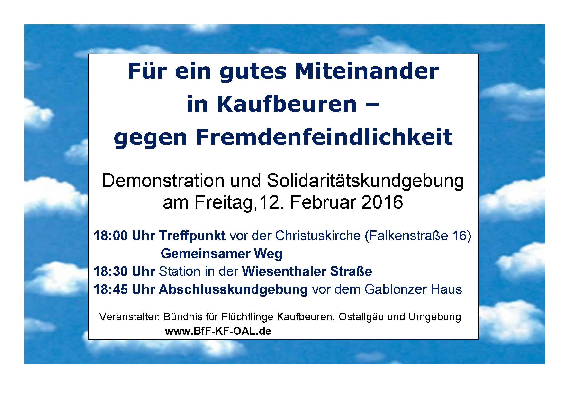 Demo und Solidaritätsbekundung 12.02.16