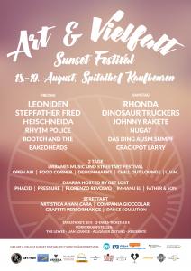 Art & Vielfalt Sunset Festival Plakat